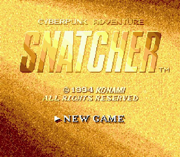 Snatcher Cyberpunk Adventure Sega Mega CD Konami Hideo Kojima Xtreme Retro 1