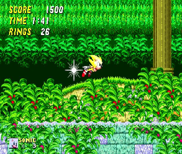 Sonic the Hedgehog 2 Super Sonic Sega Genesis Mega Drive MD Xtreme Retro