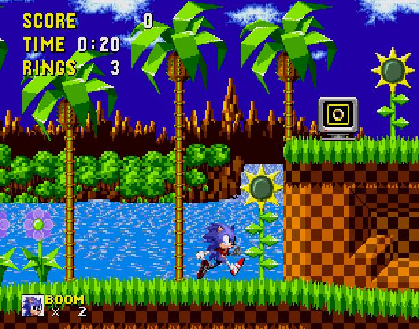 Sonic the Hedgehog Boom Sega Genesis Mega Drive MD Hack Xtreme Retro 2