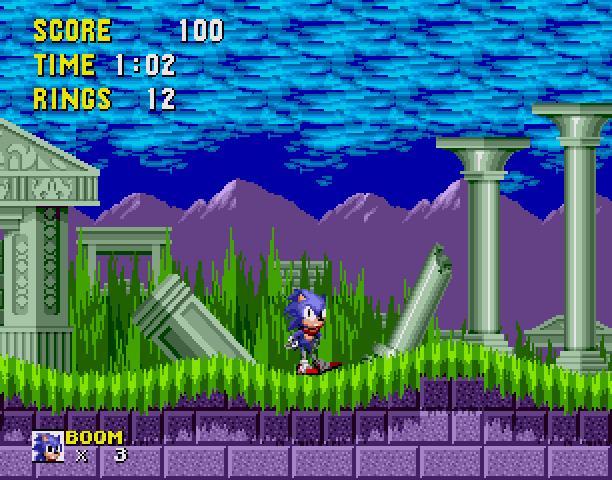 Sonic the Hedgehog Boom Sega Genesis Mega Drive MD Hack Xtreme Retro 3
