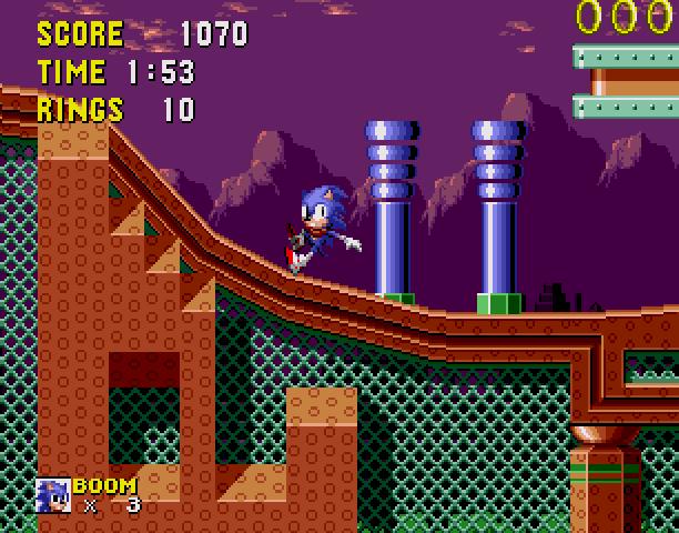 Sonic the Hedgehog Boom Sega Genesis Mega Drive MD Hack Xtreme Retro 4