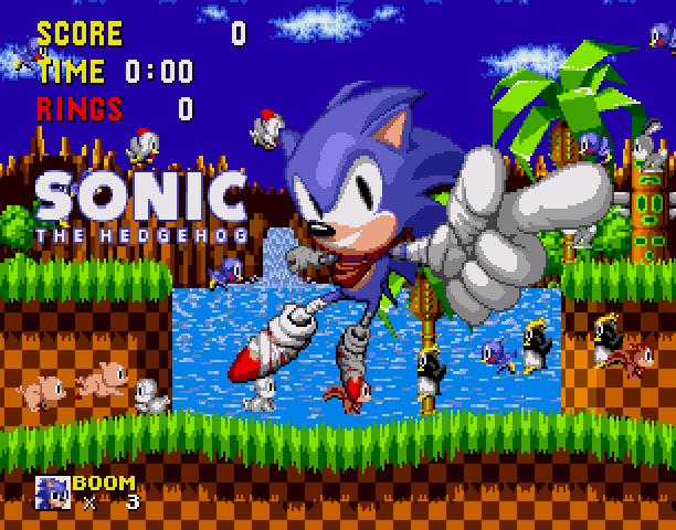 Sonic the Hedgehog Boom Sega Genesis Mega Drive MD Hack Xtreme Retro 8