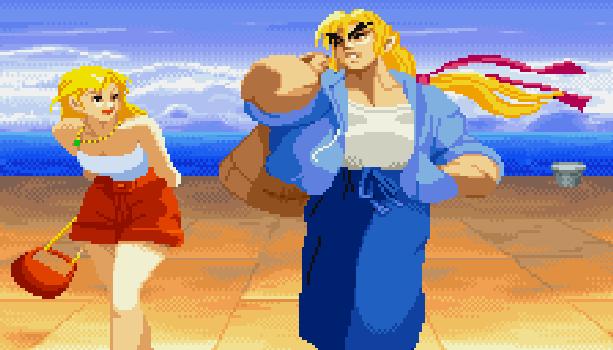 Street Fighter Ken Masters Arcade Coin Op Capcom Pixel Art Xtreme Retro