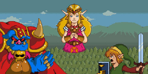 The Legend of Zelda Nintendo CD-i Pixel Art Xtreme Retro