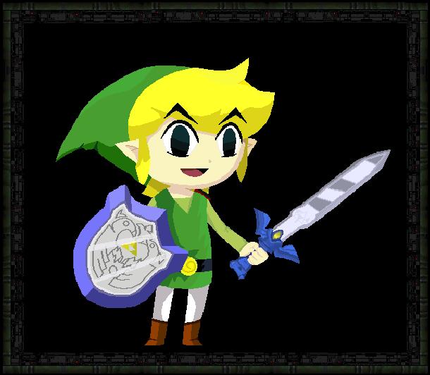 The Legend of Zelda Wind Waker Nintendo GameCube GC Wii U Remake Xtreme Retro Pixel Art
