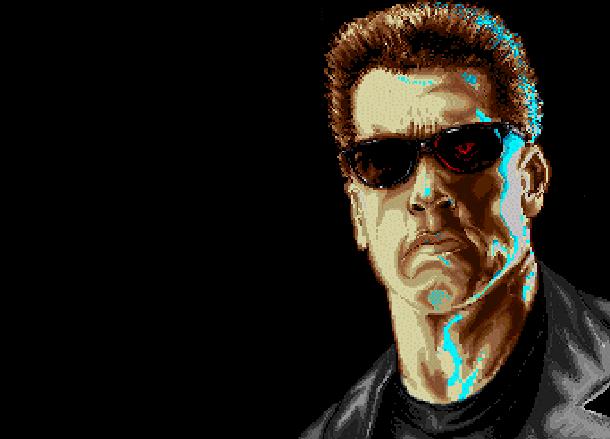 The Terminator Mindscape Super Nntendo SNES Arnold Schwarzenegger Pixel Art Xtreme Retro