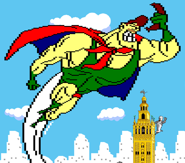 Capitan Morcilla Documental Pixel Art Xtreme Retro