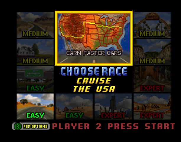 Cruis'N USA Midway Arcade Nintendo 64 N64 Racing Xtreme Retro 9