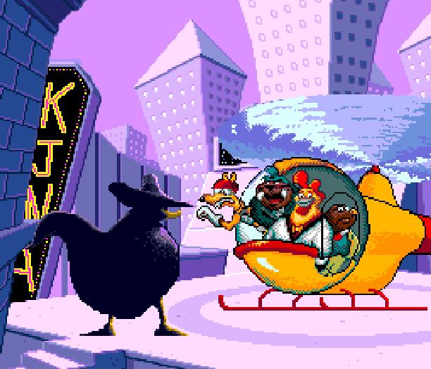 Disney DarkWing Duck PC Engine Turbografx-16 Xtreme Retro Pixel Art