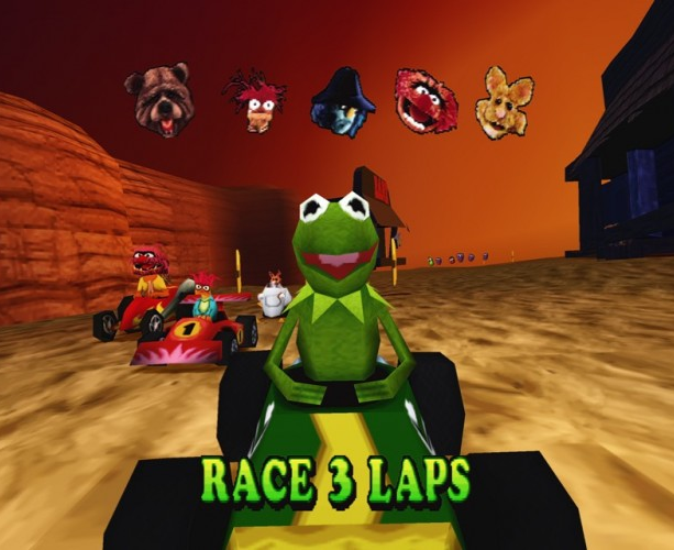 Muppet RaceMania Sony PlayStation PSone PSX Travellers Tales Midway Xtreme Retro 5