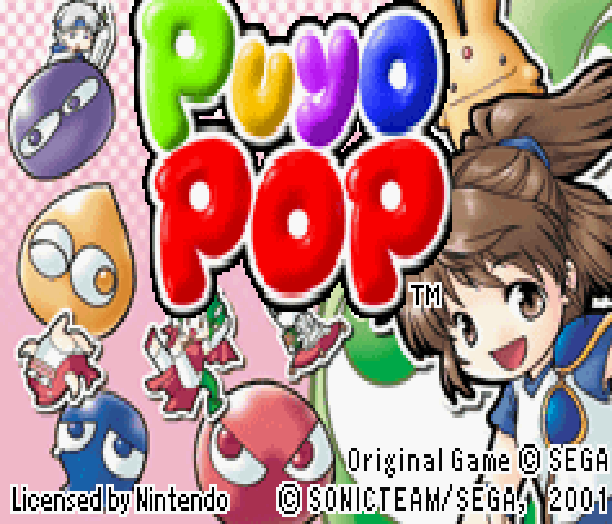 Puyo Pop Infogrames Sega Sonic Team Nintendo Game Boy Advance GBA Puzzle Xtreme Retro 1