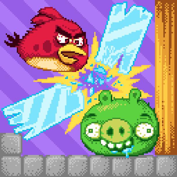 Red Bird Pixel Art Xtreme Retro
