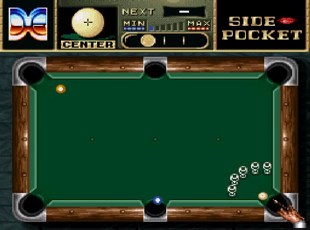 Side Pocket Data East Arcade Sega Genesis Mega Drive MD Super Nintendo SNES Xtreme Retro 4