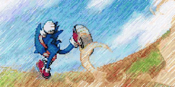 Sonic Rivals 2 Backbone Entertainment Sega Sonic team PSP Racing Game Xtreme Retro Pixel Art