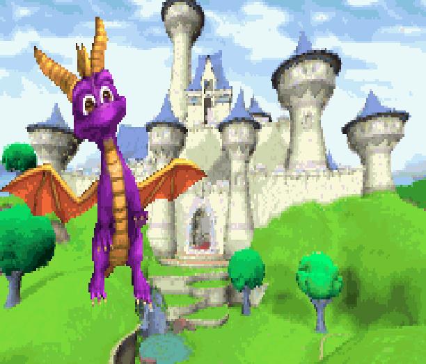 Spyro 2 Riptos Rage Gateway to Glimmer Sony Insomniac Games PlayStation PSX PSone Xtreme Retro Pixel Art