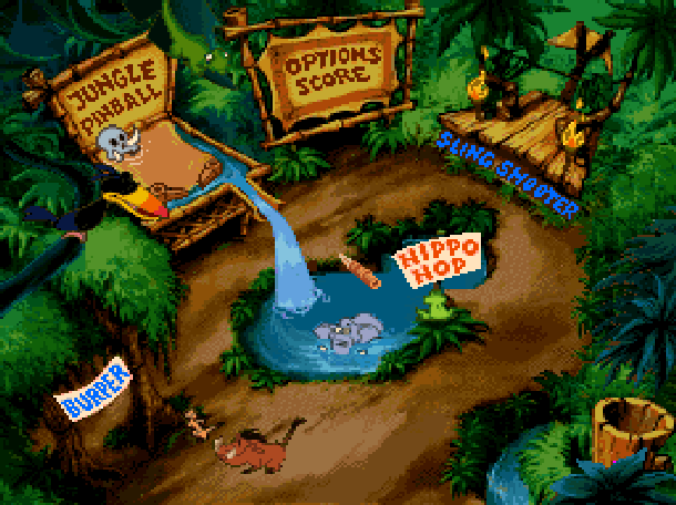 Timon & Pumbaas Jungle Games Disney Tiertex THQ Super Nintendo SNES Minigames Xtreme Retro 2