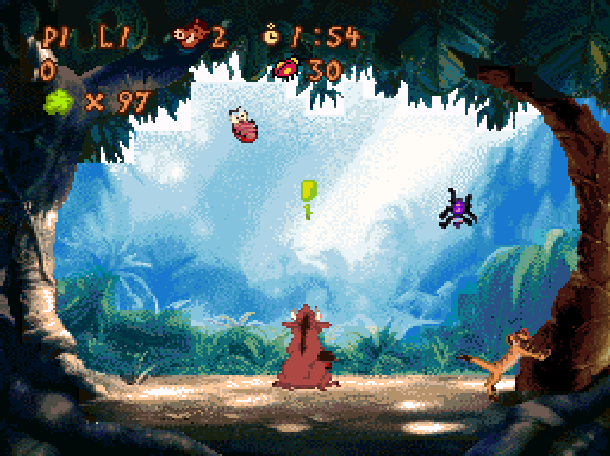 Timon & Pumbaas Jungle Games Disney Tiertex THQ Super Nintendo SNES Minigames Xtreme Retro 3