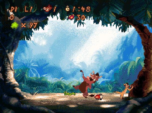 Timon & Pumbaas Jungle Games Disney Tiertex THQ Super Nintendo SNES Minigames Xtreme Retro 4