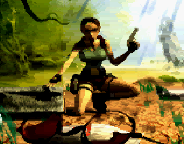 Tomb Raider Core Design Eidos Interactive Sega Saturn MS-DOS PC Sony PlayStation PSX PSone N-Gage Xtreme Retro Pixel Art