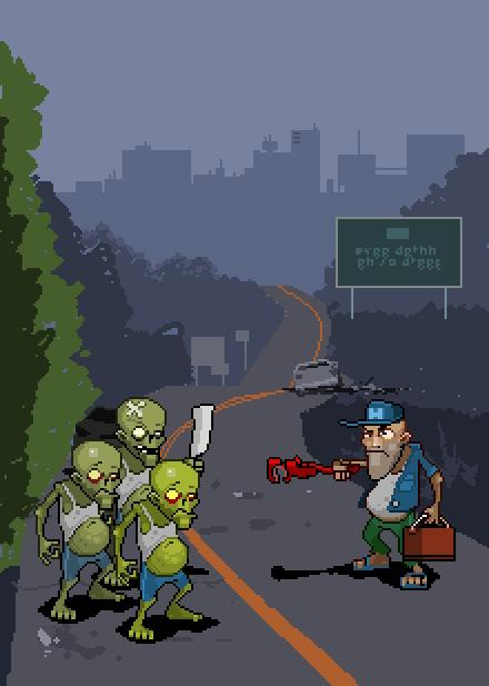 Zombie City Tactics Alan Gordon PC Indie Game Survival Zombie Xtreme Retro Pixel Art