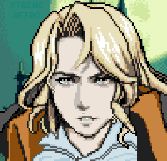 Castlevania Harmony of Dissonance Nintendo Game Boy Advance GBA Konami Xtreme Retro Pixel Art