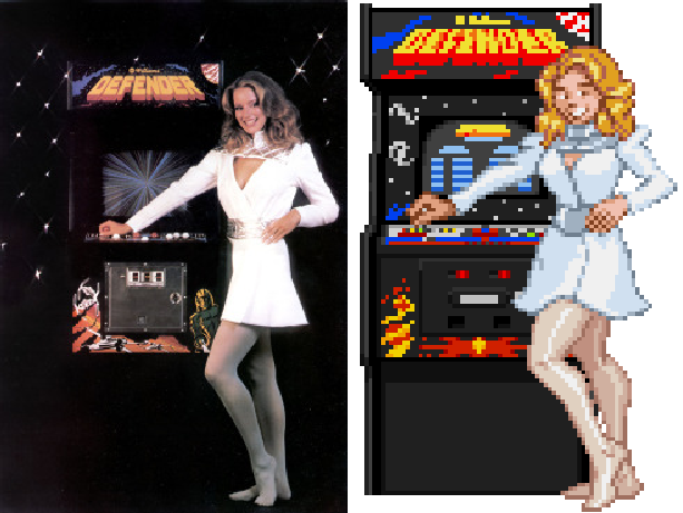 Defender William Electronics Eugene Jarvis Larry DeMar Sam Dicker Arcade Coin-Op Xtreme Retro Pixel Art
