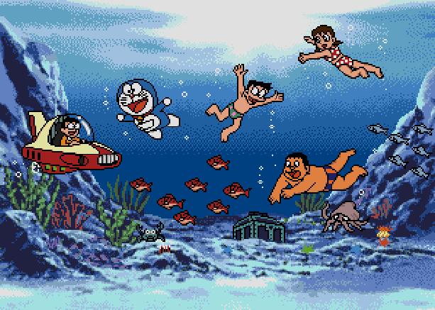 Doraemon Yume Dorobou to 7 Nin no Gozans Sega Genesis Mega Drive MD Xtreme Retro Pixel Art