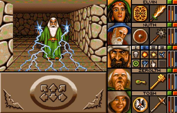 Dungeon Master FTL Games RPG Commodore Amiga Apple II Atari ST MS-DOS Super Nintendo SNES Turbografx CD Sharp X68000 PC-98 FM Towns Pixel Art Xtreme Retro