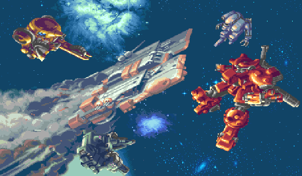 Mechwarrior Battletech Beamsoftware Activision Super Nintendo SNES Xtreme Retro Pixel Art