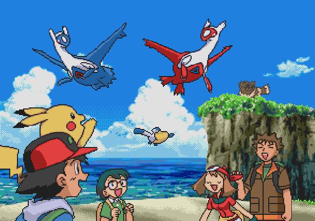 Pokemon Rubi Omega Zafiro Alfa Manga Nintendo 3DS Pixel Art Xtreme Retro