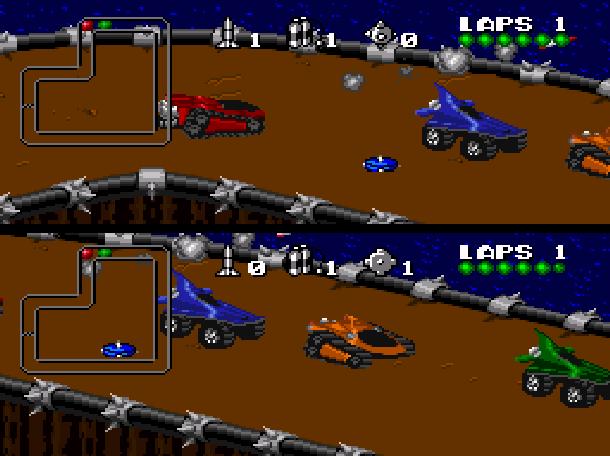 Rock N' Roll Racing Silicon & Synapse Interplay Super Nintendo SNES Sega Genesis Mega Drive MD Game Boy Advance GBA Xtreme Retro 5