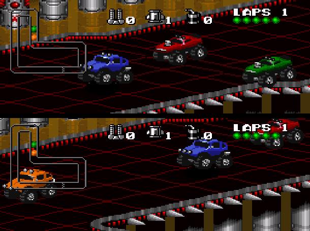 Rock N' Roll Racing Silicon & Synapse Interplay Super Nintendo SNES Sega Genesis Mega Drive MD Game Boy Advance GBA Xtreme Retro 7