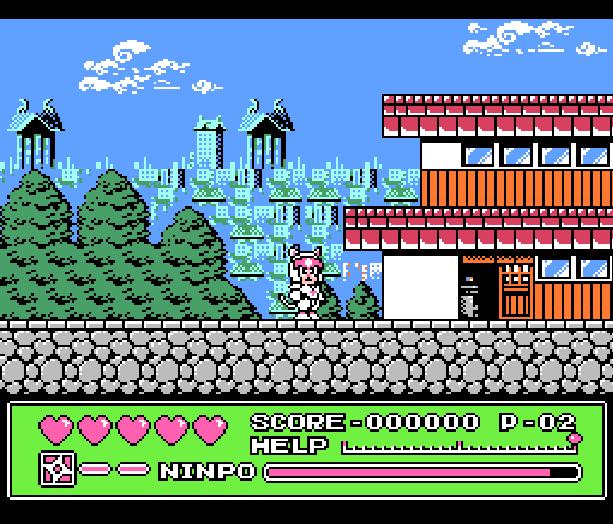 Samurai Pizza Cats Cat Ninden Teyandee Kyatto Ninden Teyandee Famicom NES Action Xtreme Retro