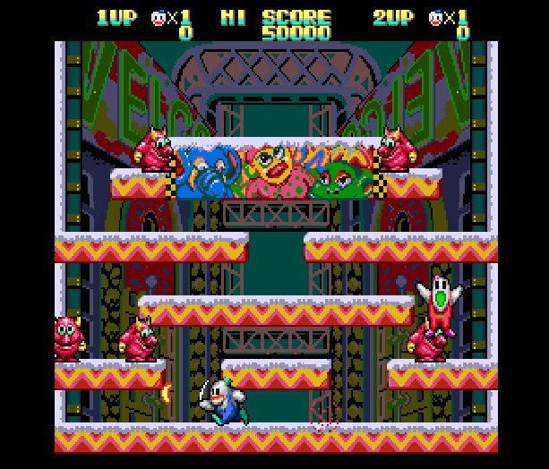 Snow Bros Toaplan Arcade Coin-Op Nintendo Game Boy GB NES Sega Genesis Mega Drive Amiga Xtreme Retro 2