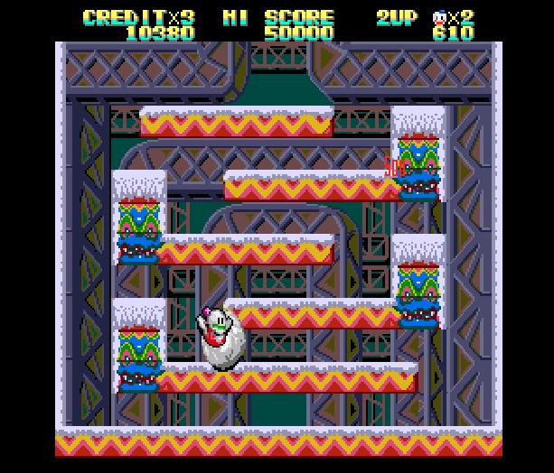 Snow Bros Toaplan Arcade Coin-Op Nintendo Game Boy GB NES Sega Genesis Mega Drive Amiga Xtreme Retro 3