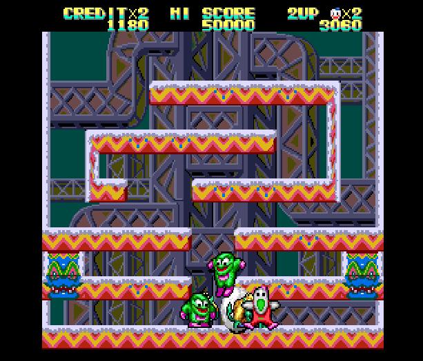 Snow Bros Toaplan Arcade Coin-Op Nintendo Game Boy GB NES Sega Genesis Mega Drive Amiga Xtreme Retro 4