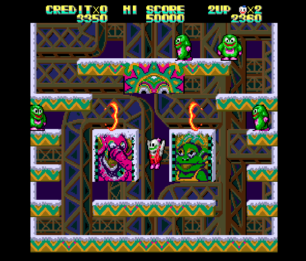 Snow Bros Toaplan Arcade Coin-Op Nintendo Game Boy GB NES Sega Genesis Mega Drive Amiga Xtreme Retro 5