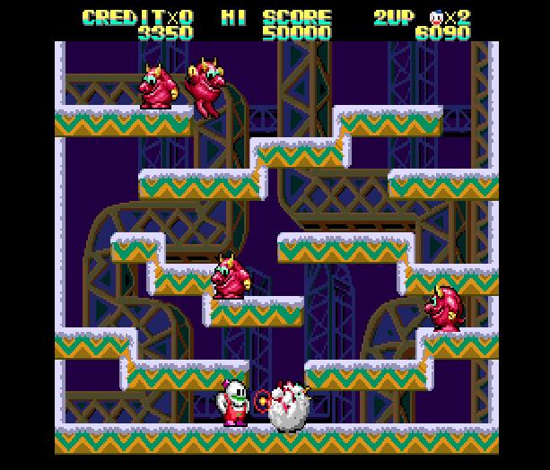 Snow Bros Toaplan Arcade Coin-Op Nintendo Game Boy GB NES Sega Genesis Mega Drive Amiga Xtreme Retro 6