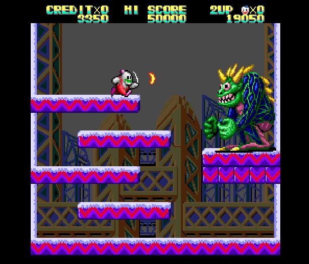 Snow Bros Toaplan Arcade Coin-Op Nintendo Game Boy GB NES Sega Genesis Mega Drive Amiga Xtreme Retro 7
