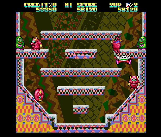 Snow Bros Toaplan Arcade Coin-Op Nintendo Game Boy GB NES Sega Genesis Mega Drive Amiga Xtreme Retro 8