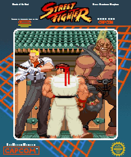 Street Fighter Capcom Arcade Coin-Op PC Engine CD ROM TurboGrafx-16 Commodore 64 C64 ZX Spectrum Amstrad CPC MD-DOS Amiga Atari ST Pixel Art Xtreme Retro