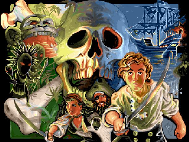 The Secret of Monkey Island LucasFilm LucasArts Electronic Arts Ron Gilbert Tim Schafer SCUMM Amiga Atari ST DOS FM Towns Mac Sega Mega CD PC Xtreme Retro Pixel Art