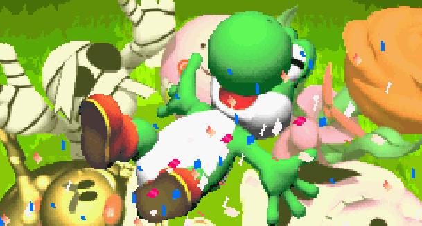 Yoshi's Woolly World Nintendo SPD Wii U Good Feel Xtreme Retro Pixel Art