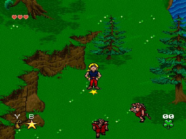 Young Merlin Super Nintendo SNES Westwood Studios Virgin Interactive Adventure RPG Xtreme Retro 8