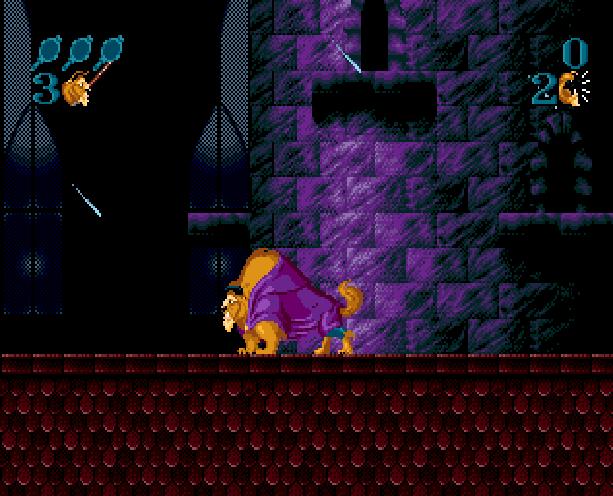 Disney's Beauty and the Beast Roar of the Beast Sunsoft Sega Genesis Mega Drive MD Xtreme Retro 5