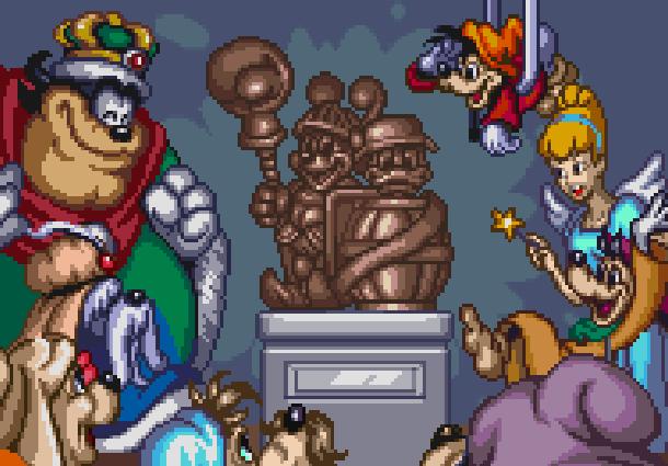 Disneys Magical Quest 3 Starring Mickey & Donald Capcom Super Nintendo SNES Game Boy Advance GBA Xtreme Retro Pixel Art