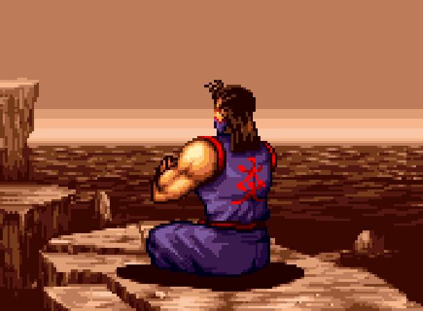 Kensei Sacred Fist Arcade Fighting Konami Sony PlayStation PSX PSone Xtreme Retro Pixel Art