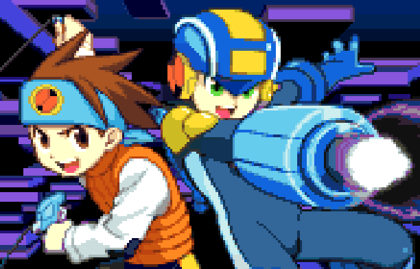 Rockman EXE WS Capcom Bandai WonderSwan Color Battle Network Series Xtreme Retro Pixel Art