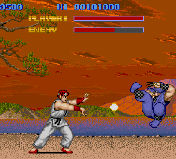 Street Fighter 1 Capcom Arcade Xtreme Retro