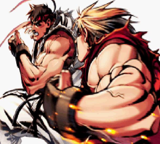 Street Fighter II Arcade Capcom Ryu Hoshi Vs Ken Masters Xtreme Retro Pixel Art